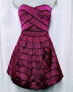 WOW COUTURE Magenta Cocktail Prom Dress Small